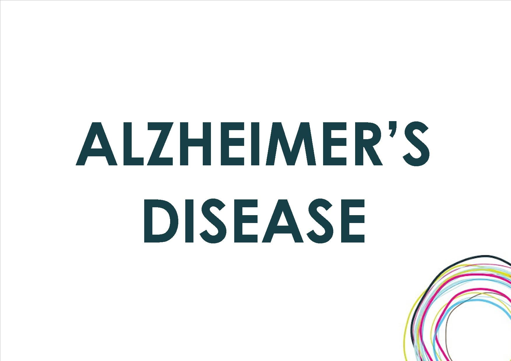 a study of alzheimers disease My first administrative position in mental health was working on a geriatric psychiatric unit of the local hospital many of the patients were eld.