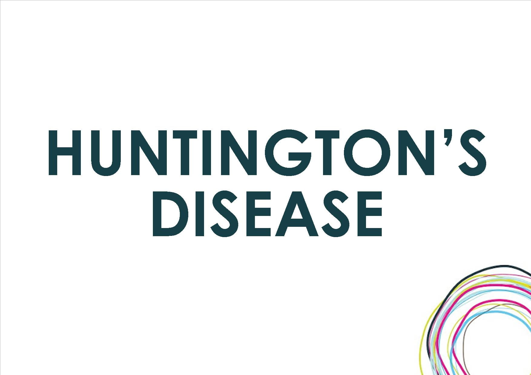 a study on the huntingtons disease Huntington disease (hd) is a progressive disorder of motor, cognitive, and psychiatric disturbances the mean age of onset is 35 to 44 years and the median survival time is 15 to 18 years after onset.